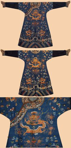 Silk twill ground, silk and gilt Gold… Chinese Embroidery, Gold Embroidery, Textiles, Textile Patterns, Chinese Patterns, Chinese Clothing, Ancient China, China Fashion, Crane
