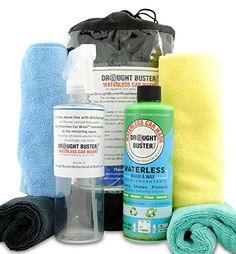 Waterless Car Wash & Wax Kit by Drought Buster(TM), Clean... http://www.amazon.com/dp/B00BVVFGYM/ref=cm_sw_r_pi_dp_s7Qgxb0ZEY9WF