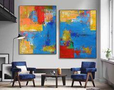 Handmade Large Contemporary Art Canvas Painting, Original Art ...