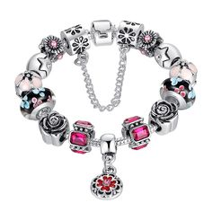 The ROSE Bracelet (Best Seller) - ONLY £13.50 - That's 62% OFF from Charms-R-Us