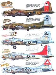 Boeing The G version introduced the chin turret with twin caliber guns. Ww2 Aircraft, Fighter Aircraft, Military Aircraft, Fighter Jets, Image Avion, Aircraft Painting, Ww2 Planes, Military Weapons, Nose Art