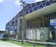 Rebuilding in steel in Tonga using scottsdale's frame and truss technology.