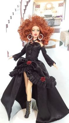 OOAK-Poupee-BARBIE-Corey-Lee-hard-rock-style-Creation-By-Cipriano-Collection