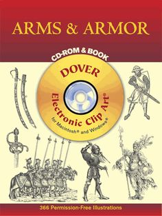 Extensive archive features illustrations of offensive and defensive weapons of battle, including a vast array of armor, chain mail, swords, spears, pikes, lances, crossbows, axes, daggers, helmets, shields, and other ancient implements. 366 black-and-white illustrations.