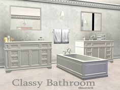 Bathroom Classy in white, black and wood by ShinoKCR - Sims 3 Downloads CC Caboodle