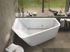 Asymmetrische Whirlpool Badewanne PAIOVA 5 Kollektion Paiova by DURAVIT Italia   Design EOOS