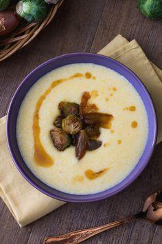 Vellutata di polenta: golosissima e pronta in pochissimo. Assolutamente da provare!  [Polenta cream soup]