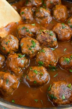 Slimming Eats Syn Free Mushroom and Parmesan Chicken Meatballs in Rich Onion Gravy - gluten free, Slimming World and Weight Watchers friendly