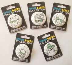 Have you checked out the Geek  Icon Collection? 5 awesome badges!   http://store.geekshirtshq.com/product-category/gshq-collectible-badges/