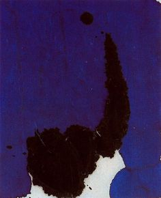 Lyric Suite 1965 / Robert Motherwell  Abstract painting using mainly black and purple