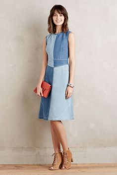 NWT/NIP Anthropologie Pieced Denim Dress by Holding Horses Size 2, 4, 6, 10, 16 #Holdinghorses #Fitflare