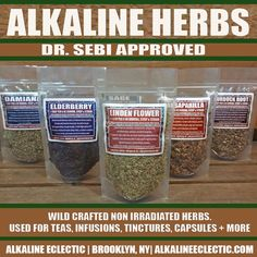 TRY THESE ALKALINE HERBS. A cup of tea to start your day or end your evening. We do not claim that they can cure any disease. We are only outlining what these herbs have been used for by herbalists as outlined by various sources. All herbs sourced are non - irradiated. WE HAVE ENACTED FLAT RATE SHIPPING FOR ALL HERB ORDERS. Black Walnut - Used to treat parasitic worm infections. * 2oz per bag Blue Vervain is used to stimulate the liver, soothe the nervous system, detoxify the body, & ...