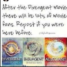 Repin if your a TRUE Divergent fan!  Divergent ~ Insurgent ~ Allegiant<<<<*you're.