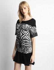 Vestido Colcci Zebra - Preto+Branco