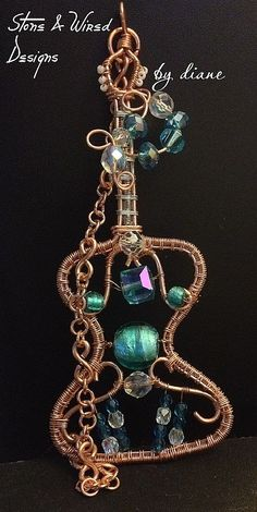 Wire Wrapped Copper Acoustic Guitar with by StonedAndWiredDesign