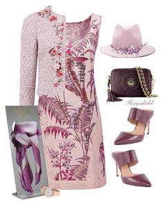 Dress @sarah-m-smith for New Wine Women's Day! by ragnh-mjos on Polyvore featuring moda, Joe Browns, Giambattista Valli, Halston Heritage and Ryan Roche