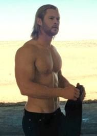 Chris Helmsworth. I'm not sure if it is the eyes, the biceps, the abs, the hair, or the accent but....DAMN!!