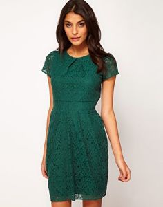 Find the best selection of ASOS Tulip Dress In Lace. Shop today with free delivery and returns (Ts&Cs apply) with ASOS! Lace Dresses, Short Sleeve Dresses, Emerald Green Weddings, Tulip Dress, I Got Married, Mod Wedding, Wedding Bridesmaids, Tulips, Asos