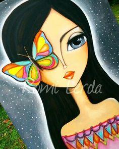 Art Sketches, Art Drawings, Hippie Art, Arte Popular, Whimsical Art, Face Art, Indian Art, Art Girl, Watercolor Art
