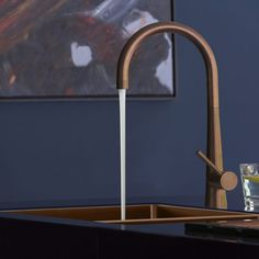 Add a copper tap to a Moroccan themed kitchen. We love the Caple, RIDLEY, Modern Single Lever Kitchen Tap in copper, shown here with the Caple single bowl, undermount sink in copper. Requires a minimum bar pressure of Copper Taps Kitchen, Kitchen Sink Taps, Kitchen Cabinets, Martha Stewart, Brass Tap, Kitchen Themes, Kitchen Ideas, Home
