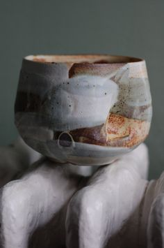 ralph nuara - indented stony chawan