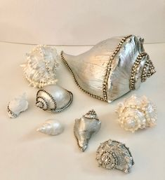 Seashell Painting, Seashell Art, Seashell Crafts, Beach Crafts, Seashell Chandelier, Seashell Projects, Shell Decorations, Shell Ornaments, Painted Shells