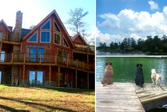 I want a big log cabin house like this one.