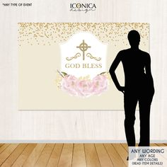 first communion backdrop ivory religious banner floral first communion banner pink peonies religious backdropprinted or printablebar0005
