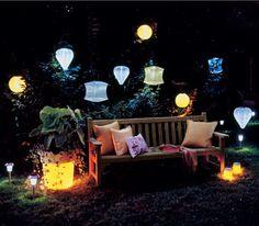 Hanging lantern solar lights.