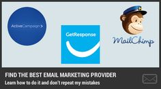 Email Marketing Providers MailChimp vs ActiveCampaign vs GetResponse
