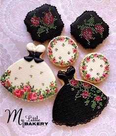 Black & White Ukrainian style cookies
