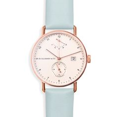 Atticus in Rose Gold with Meltwater Blue strap (Preorder)