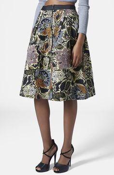 Pair this pretty midi skirt with a crop-top or a knit sweater.