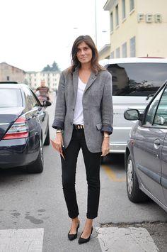 Emanuelle Alt Business Chic #grey #blazer