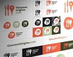 Brand identity design for location-gourmet e-commerce web site - I think I might have made the 'knife' the same size as the fork and location icon, but that's just me