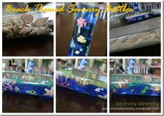 Beach themed Sensory Bottle. For additional resources come join us at: http://www.smartappsforspecialneeds.com