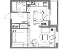 Как оформить 43 квадратных метра в скандинавском стиле | Свежие идеи дизайна интерьеров, декора, архитектуры на InMyRoom.ru
