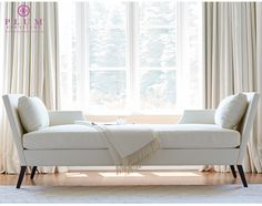 THE SANDRA NAPPER - DOUBLE CHAISE | Plum Furniture.  Please contact Avondale Design Studio for more information on any of the chairs we highlight on Pinterest.