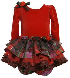 Plaid foil dot tiered skirt special occasion holiday party dress