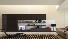 Living room furniture with minimalist design is modern and functional.