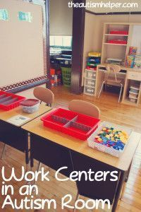 The Autism Helper Classroom. If you are a visual learner yourself, check this post out. There are TONS of well staged and labeled photos to help you envision your own special education classroom regardless of if you teach in elementary, middle or high school. Great inspiration!! Read more at: http://theautismhelper.com/the/