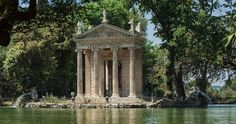 The Temple of Aesculapius at Villa Borghese.