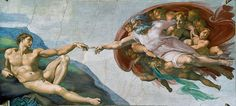 The Creation of Adam (1512) - Michelangelo The work done by Michelangelo on the Sistine Chapel ceiling is a cornerstone of Renaissance art and The Creation of Adam is the most famous fresco panel of the masterpiece
