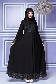 2a7b89f34ed Impressive collection of abaya with flare designs (15) Modern Abaya