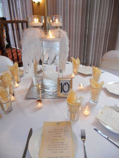 Baby shower angels table decor