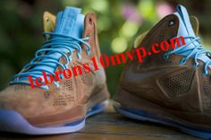 bf38a2bc468 Nike LeBron X EXT Suede Brown Suede Brown Sea Royal White 607078 200