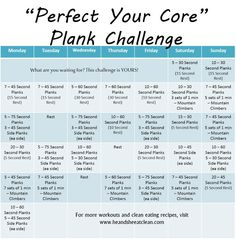 Monthly Challenge :: Perfect Your Core Plank Challenge #heandsheeatclean #eatclean #cleaneating #plank #fitness #exercise #challenge