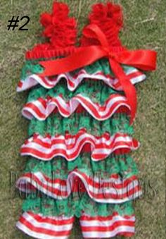 Last One! Size 3y  Satin Christmas Romper $16 + P&H  In Stock and Ready to send!