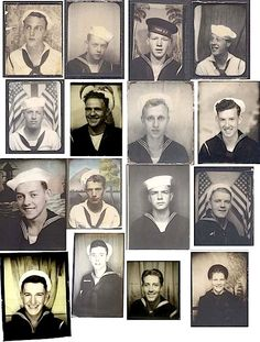 WWII photo booth sailors