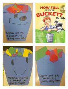 How Full Is Your Bucket? Teaching kids how to be bucket-fillers: positive, caring and empathetic. Teaching Kindness, Kindness Activities, Preschool Activities, Book Activities, Emotions Preschool, Bucket Filling Classroom, Bucket Filler Activities, Bucket Fillers, Bucket Filler Book
